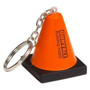 Custom Branded Construction Cone Key Chain