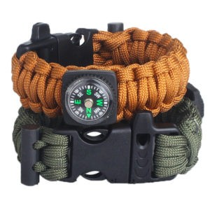 Custom Engraved Paracord Bracelet with Compass