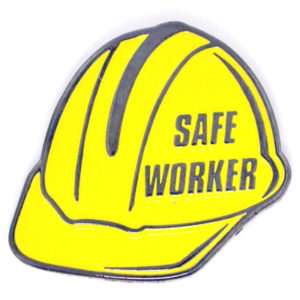Imprinted Safe Worker Pin
