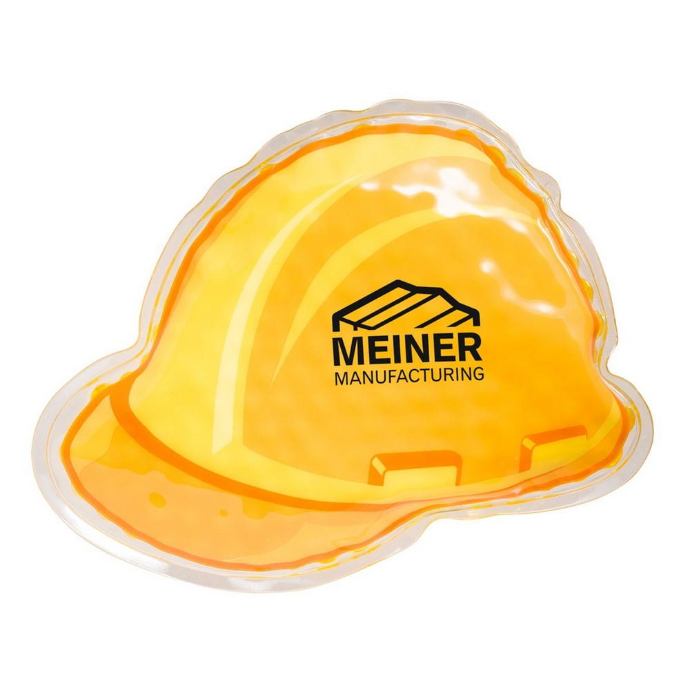 Custom Hard Hat Hot/Cold Pack Promotes Work Place Safety