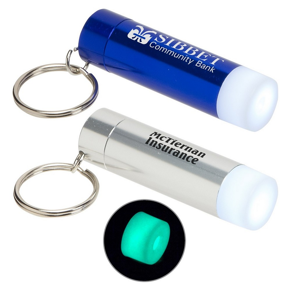 Promotional Glow-in-the-Dark LED Flashlight Keychain Helps Customers Safely Navigate in the Dark