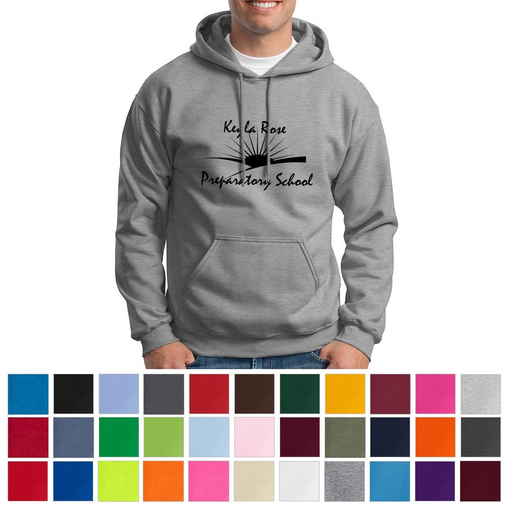 Customizable Gildan® Adult Heavy Blend™ Hooded Sweatshirt Ideal for Promoting Your Company's Values on Safety