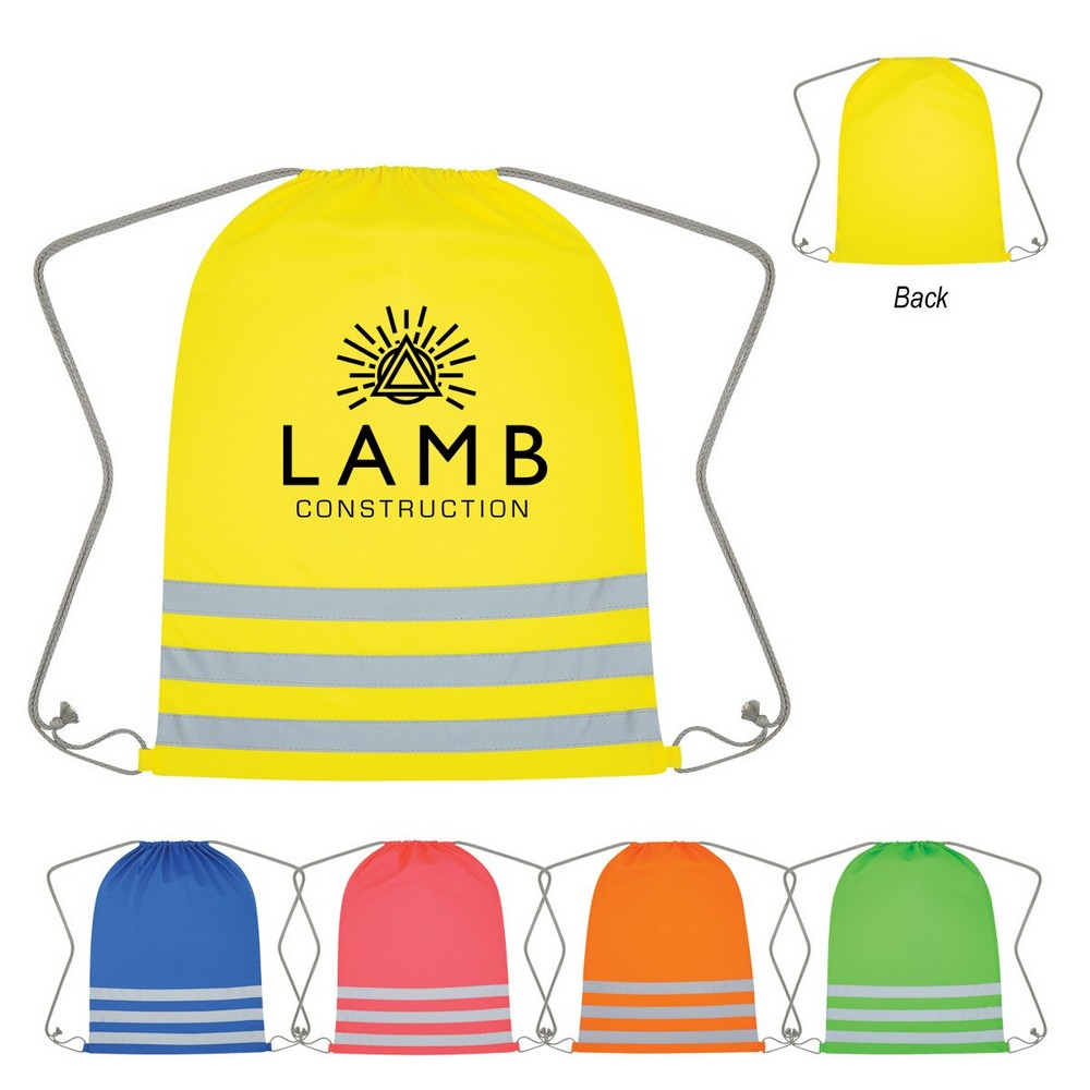 Custom Reflective Safety Drawstring Bag is the Ideal Bag to Promote Outdoor Safety